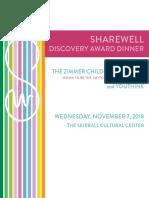 2018 Discovery Award Dinner Tribute Journal
