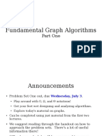 Cs161 Condensed Lecture 1 Slides - Fundamental Graph Algorithms