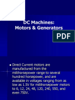 DC Machines Motors Generators