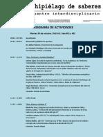 Programa Archipielago de Saberes Encuentro Interdisciplinario 2018