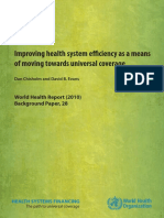 Improving Health Efficiency for UHC