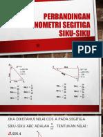 Perbandingan Trigonometri Segitiga Siku-siku