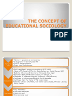 Chapter 1 (Latest) - The Concept of Educational Sociology