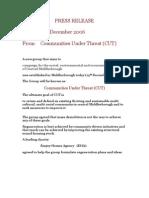 CUT Press Release 001