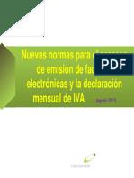 Factura y Nuevos Registros Electronicos Del IVA
