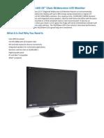 Viewsonic VX2250wm 140+ Customer Reviews