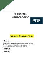 1. El Examen Neurológico