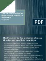 Los Síntomas Clínicos Directos Del Conflicto Neurótico - O. Fenichel