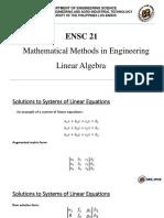 1 Linear Algebra