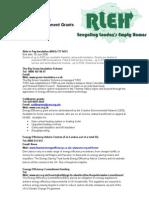 Grants and Funding Available for Enviroronmental Refurbishment