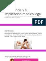 Impotencia y Su Implicación Medico Legal