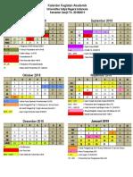 Kalender Kegiatan Akademik TA 2018-2019