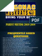 Algonac 2018 Parents Meeting