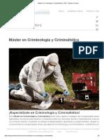 Máster en Criminología y Criminalística _ CFEC - Estudio Criminal