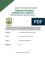 Informe Nist - Seguridad i