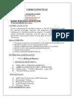WELDING  INSPECTOR CV