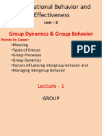 Group Dynamics and Group Processes