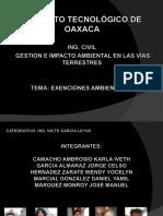Exenciones ambientales  del reglamento de ley general del equilibrio ecológico y protección al ambiente