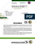 LINEAMIENTOS DE REFORMA EN SALUD