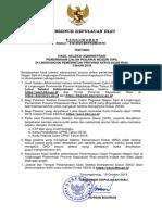 1. Pengumuman CPNS Kabupaten Bintan Tahun 2018
