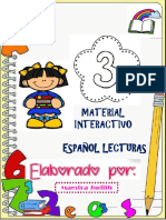 ACTIVIDADES DE ESPAÑOL LECTURA 3°