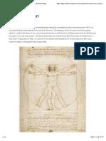 Vitruvian Man by Leonardo Da Vinci - World Mysteries Blog
