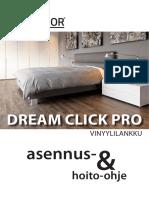 Upofloor Asennusohje Dream Click Pro 2018