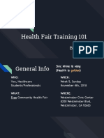 health fair training fall 2018