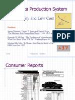 A Case Study - Toyota Production System