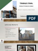 PRODUCTIVIDAD EN CONSTRUCCIÓN DE UNA VIVIENDA EN VITACURA - SANTIAGO DE CHILE