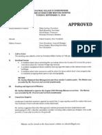 September 2010 Mtg Minutes Approved