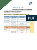 Calendrier DELF DALF 2019