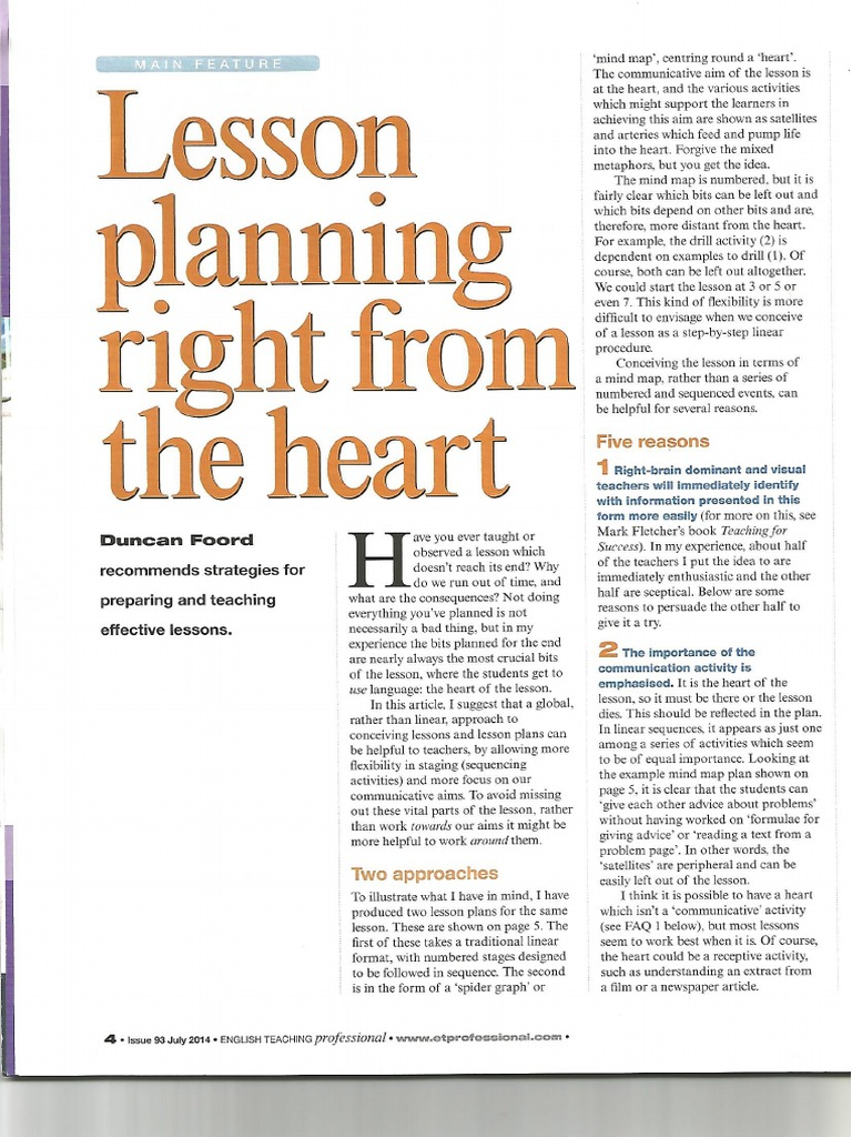 Lesson Planning from the Heart pdf