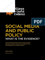 Social Media and Public Policy