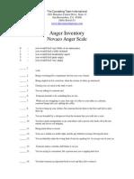 Anger Inventory NOVACO
