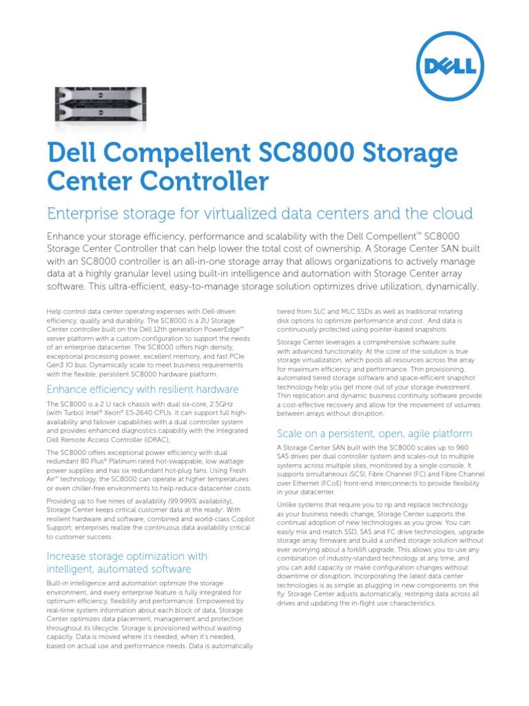 ESG Datasheet CompellentSC8000 Eng(1)   Data Center   Computer Data