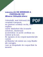 Mioara Calusita Alecu-Emanatia de Energie a Fiintelor Vii