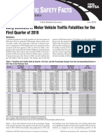 Early Estimates of Motor Vehicle Traffic Fatalities for the First Quarter of 2018