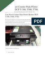 Cara Reset Counter Pada Printer Brother DCP T