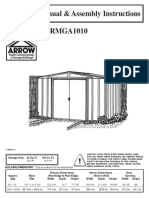 Metal Shed Assembly Instructions