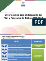 Guia Para Realizacion de Plan y Programa de Trabajo PPT en 2014