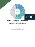 Manual SEL Quickset