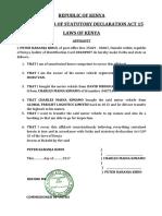 Affidavit - Company Transfer