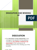 Business Partnership Dissolution and Winding Up