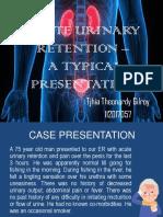 JURDING Acute Urinary Retention