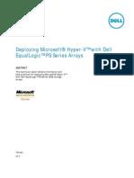 PS SERIES - Deploying Microsoft Hyper-V