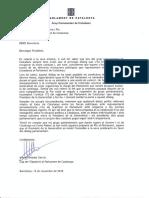 Carta d'Inés Arrimadas al president Quim Torra
