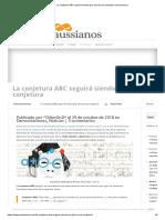 La Conjetura ABC Seguirá Siendo (Por Ahora) Una Conjetura _ Gaussianos