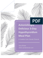 3-Day Hypothyroid Meal Plan
