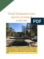 """Noticia estilo """"La Cuarta"""" de dinámicas en Parque Bustamante"""